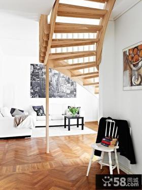 95㎡北欧风格复式楼过道装修效果图大全2012图片