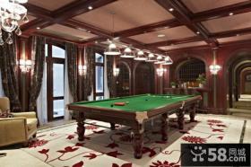 美式风格三室两厅休闲区装修效果图