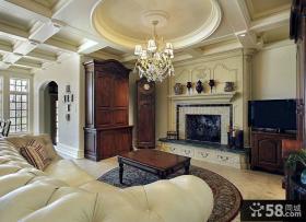 家装设计室内客厅吊顶效果图