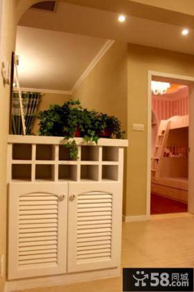 现代欧式家居玄关鞋柜装修图片