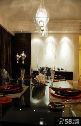 简约小餐厅吊灯装饰图片