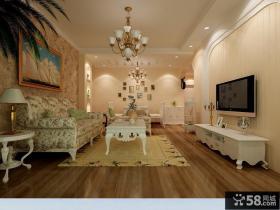 欧式田园客厅电视背景墙装修设计