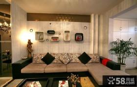 现代风格沙发背景墙装饰效果图