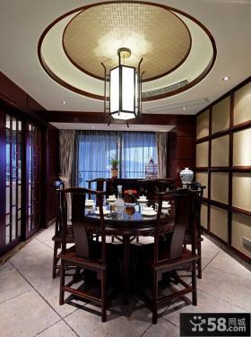 中式古典装饰复式餐厅设计效果图