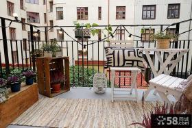 公寓阳台护栏装修效果图
