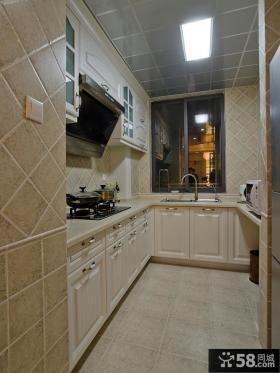 简约风格两室两厅厨房集成吊顶效果图
