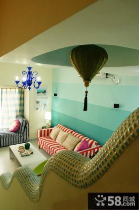 地中海风格客厅吊顶造型设计