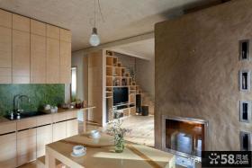 120平米原木复式楼厨房设计