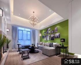 简约风格客厅沙发背景墙装修图
