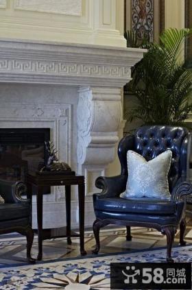美式复式客厅椅子图片