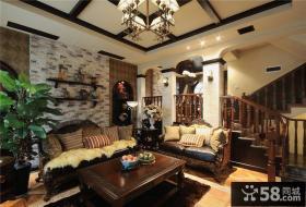 美式乡村风格客厅装修效果图欣赏