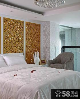 现代风格卧室床头背景墙效果图欣赏