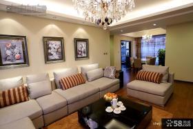 现代简约客厅沙发背景墙家装效果图