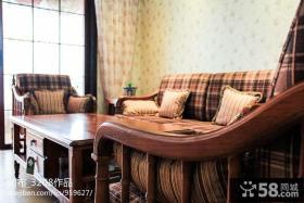 美式田园风格客厅家具图片