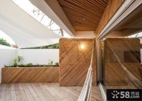 日式精装修设计阳台图片