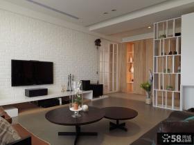 时尚现代设计客厅电视背景墙图片大全