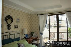 英式卧室壁纸装修效果图