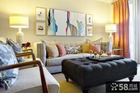 现代风格客厅照片墙装修效果图大全2013图片
