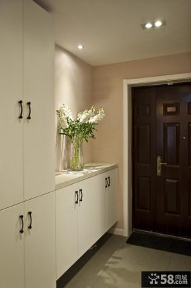 家庭鞋柜玄关装饰效果图片