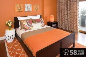 17万打造华丽美式风格卧室窗帘装修效果图大全2014图片
