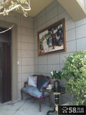 欧式风格小阳台设计效果图