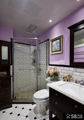 美式后现代风格卫生间装修效果图