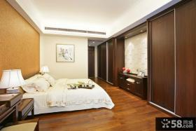 中式风格卧室实木衣柜图片