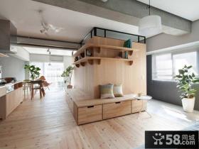日式温馨小户型室内客厅装饰效果图片