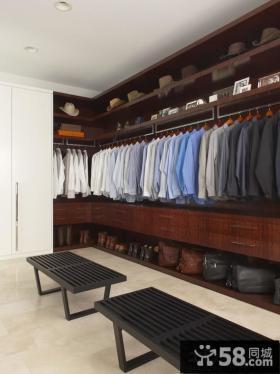 家装开放式衣帽间设计效果图片