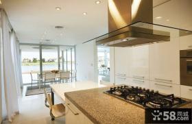 简约现代复式楼厨房装修效果图大全2014图片