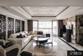 现代欧式三房两厅客厅装修设计效果图
