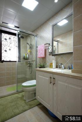 美式风格4平米卫生间图片欣赏