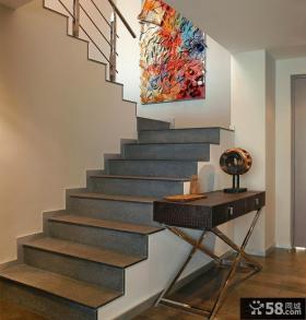 复式楼楼梯装修效果图片