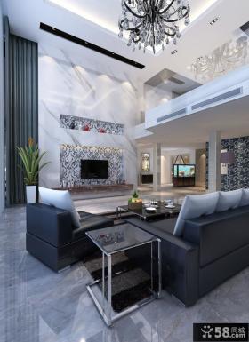 优质别墅客厅电视背景墙装修效果图大全2013图片