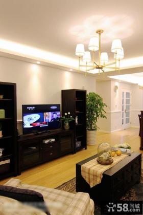 家装室内时尚精装修客厅电视背景墙图片