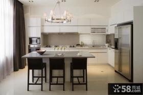 整体厨房吧台装修效果图图片
