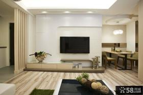 简单客厅电视墙装修图片