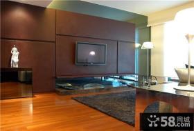 现代简约小户型客厅电视背景墙装修图大全