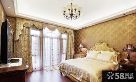 卧室落地窗帘设计效果图
