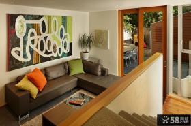 小复式客厅装修效果图大全2014图片
