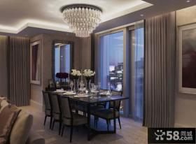现代风格三室两厅西餐厅装修效果图欣赏大全