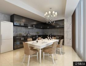 厨房橱柜餐厅一体装饰效果图