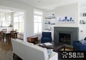 90平米简欧风格客厅背景墙装修效果图