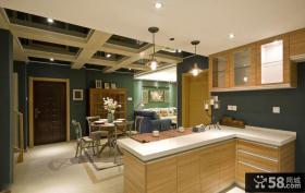 美式风格复式家庭房屋装潢图片