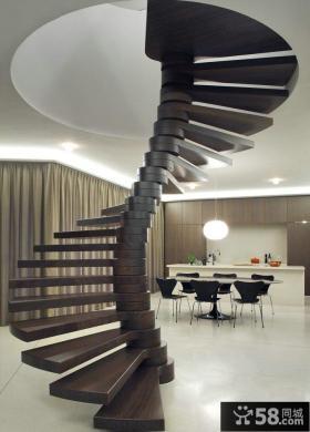 现代设计时尚别墅楼梯效果图