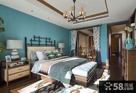 东南亚式别墅仿古卧室装修图片大全