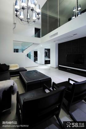 现代客厅电视背景墙装修设计图大全
