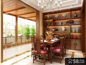 古典中式风格别墅餐厅效果图