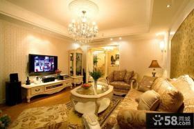 欧式风格客厅壁纸电视背景墙效果图