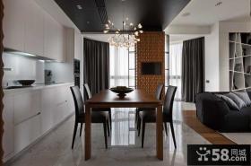 现代时尚装饰公寓餐厅设计图片